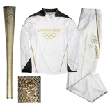 Olympic Torch & Tracksuit Used in 2012 London Summer Games