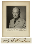 "Dwight D. Eisenhower Signed 8"" x 10"" Military Photo -- Inscribed to His Secret Service Agent"