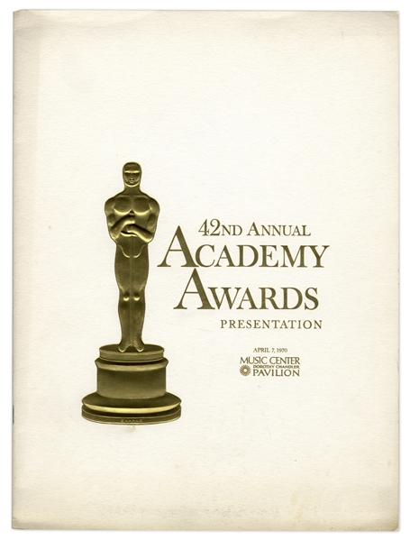 42nd Academy Awards Presentation Program