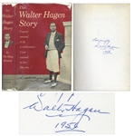 Walter Hagen Signed Autobiography, The Walter Hagen Story -- Also Signed by Golf Course Architect Willie Kidd