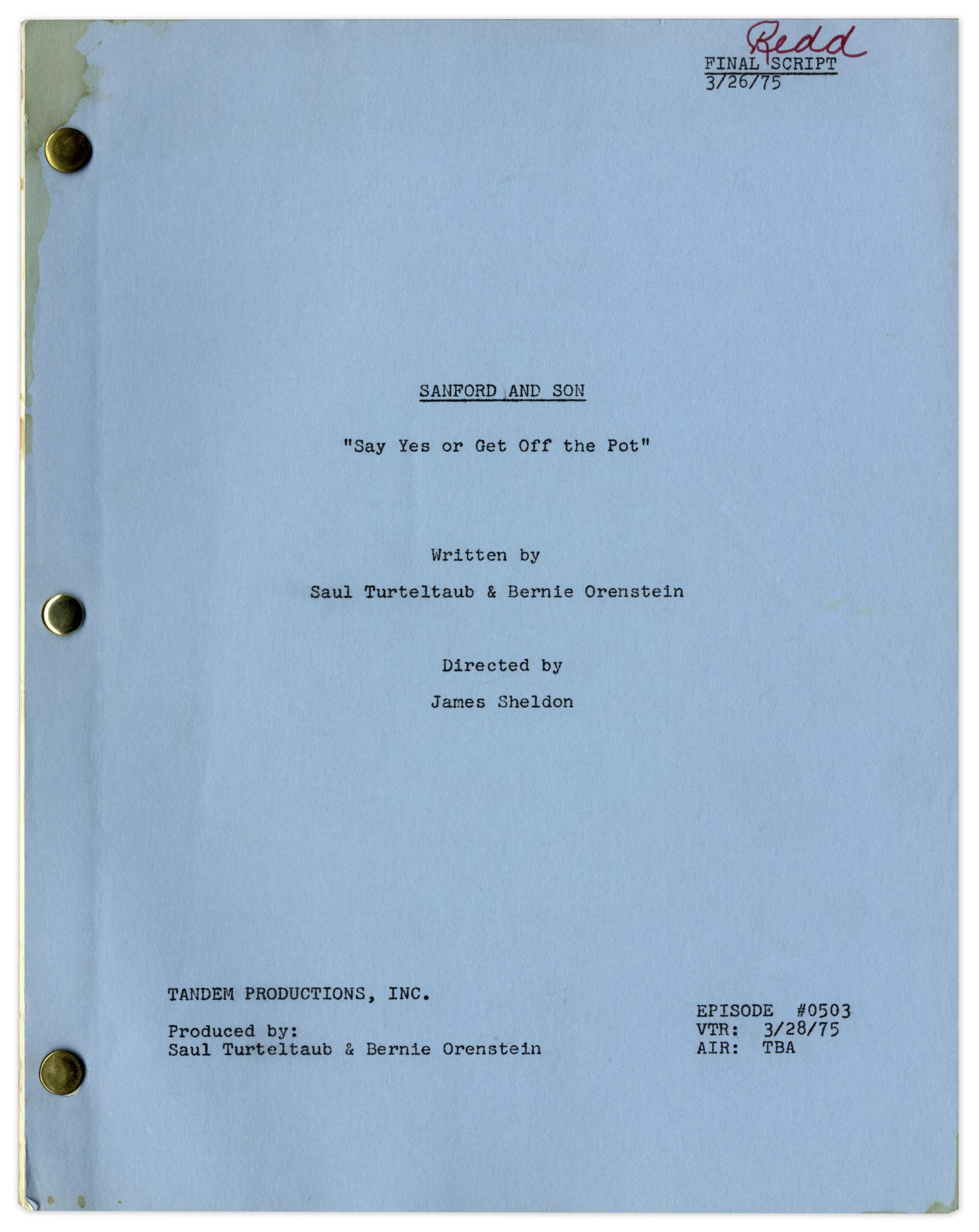 lot detail sanford son season 5 episode 8 final draft sanford son season 5 episode 8 final draft script ·