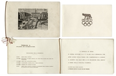 1960 Olympic Torch Program -- Celebrating the Arrival of the Olympic Torch in Rome on 24 August 1960