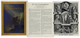 1923 Theater Brochure for Cecil B. DeMilles The Ten Commandments