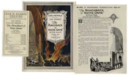 1923 Theater Brochure for The Hunchback of Notre Dame