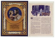 1927 Theater Brochure for Cecil B. DeMilles The King of Kings