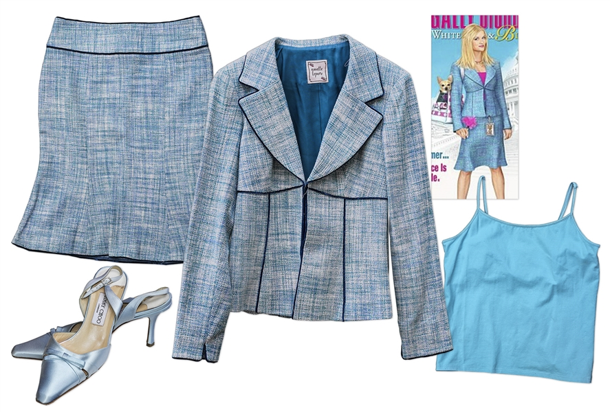 Reese Witherspoon Outfit From ''Legally Blonde 2: Red, White and Blonde'' -- Nanette Lepore Suit & Jimmy Choo Shoes
