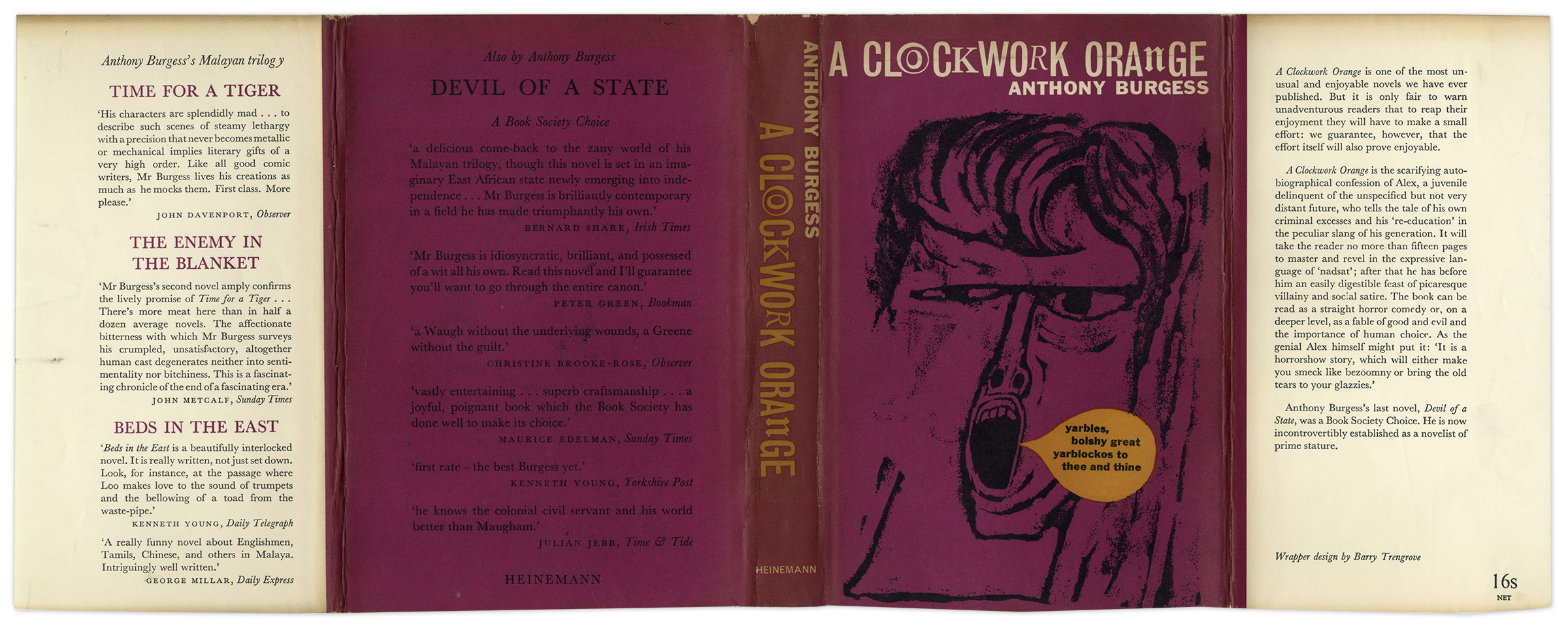 an analysis of a clockwork orange a novel by anthony burgess Of the fifty books anthony burgess wrote, this satiric, futurist novel surely is the most famous it was popularized by the controversial film adaptation made by stanley kubrick in 1971.