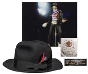 Michael Jacksons Famous Stage-Worn Black Fedora -- From 1984 Victory Tour
