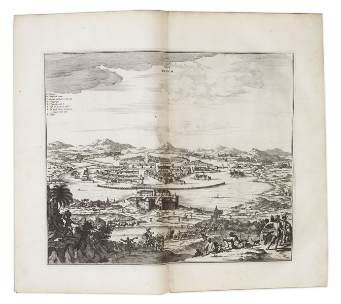 Important 17th Century First Edition of ''America: Being the Latest and Most Accurate Description of the New World'' -- Includes 75 Engravings of American Geography, Animals & Native People