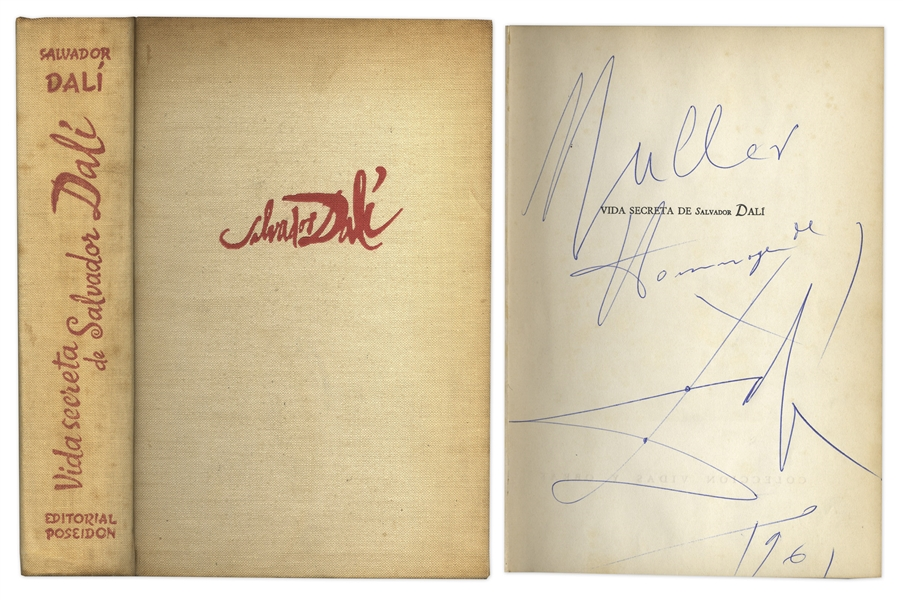 Salvador Dali Signed Autobiography From 1961