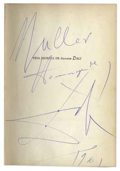 Lot Detail - Salvador Dali Signed Autobiography From 1961
