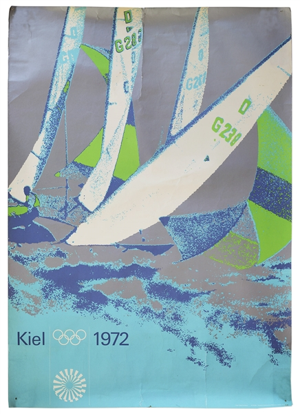 Sailing Poster From the 1972 Summer Games
