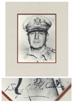 WWII General Douglas MacArthur Signed 8 x 10 Photo