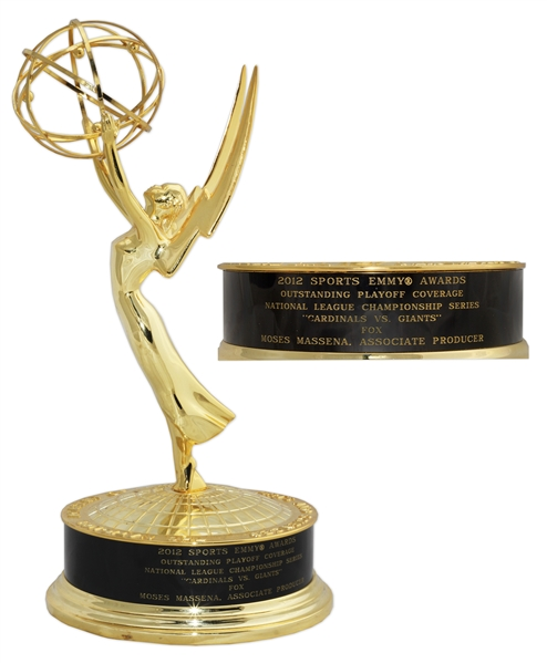 2012 Sports Emmy Award for Fox's Coverage of the National League Championship Series -- Stunning, Near Fine Condition