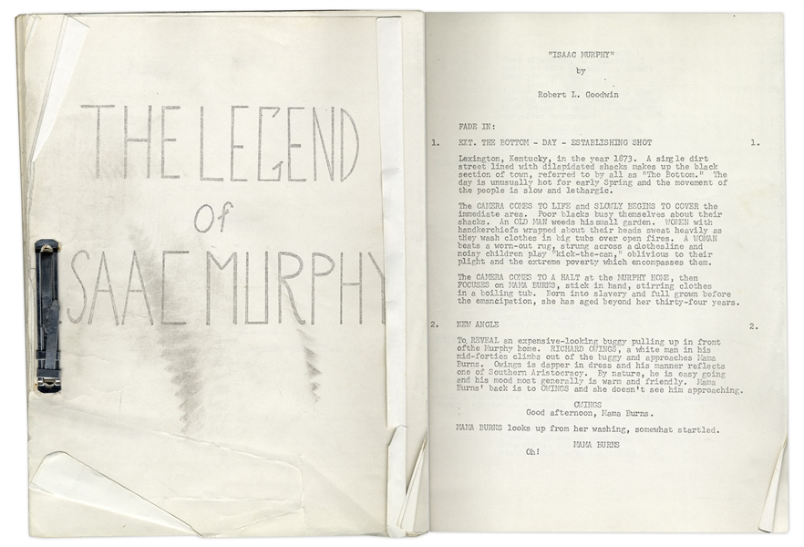 ''The Legend of Isaac Murphy'' Movie Script Written by Robert L. Goodwin, Owned by Redd Foxx of ''Sanford & Son'' -- 124 Pages -- Very Good Condition -- From Redd Foxx Estate