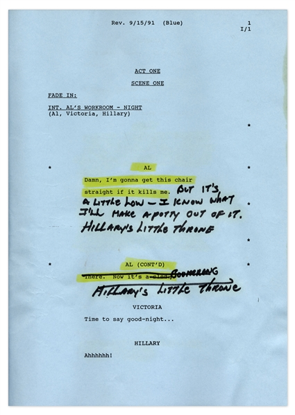 ''The Royal Family'' Episode 3 Revised Table Draft Script Owned & Annotated by Redd Foxx of ''Sanford & Son'' -- 49 Pages -- Very Good Condition -- From Redd Foxx Estate