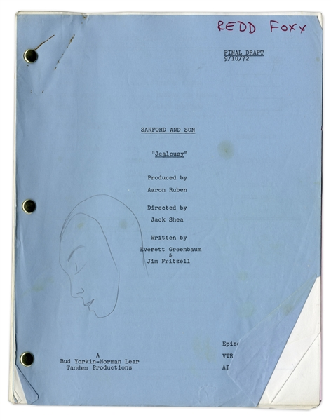 ''Sanford & Son'' Season 2, Episode 4 Final Draft Script Owned & Annotated by Redd Foxx -- 46 Pages -- Very Good Condition -- From Redd Foxx Estate