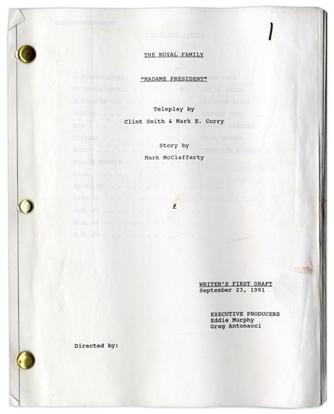 ''The Royal Family'' Writer's First Draft Script Owned & Annotated by Redd Foxx of ''Sanford & Son'' -- Dated Weeks Before Foxx's Death -- Very Good Condition -- From Redd Foxx Estate