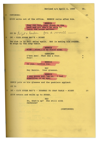 ''Harlem Nights'' Movie Script Written by Eddie Murphy, Owned & Annotated by Redd Foxx of ''Sanford & Son'' -- 130+ Pages -- Very Good Condition -- From Redd Foxx Estate