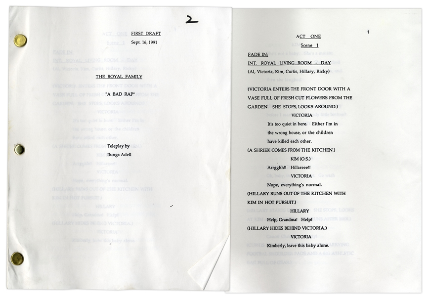 ''The Royal Family'' First Draft Script Owned by Redd Foxx of ''Sanford & Son'' -- Dated Weeks Before Foxx's Death -- 57 Pages -- Very Good Condition -- From Redd Foxx Estate