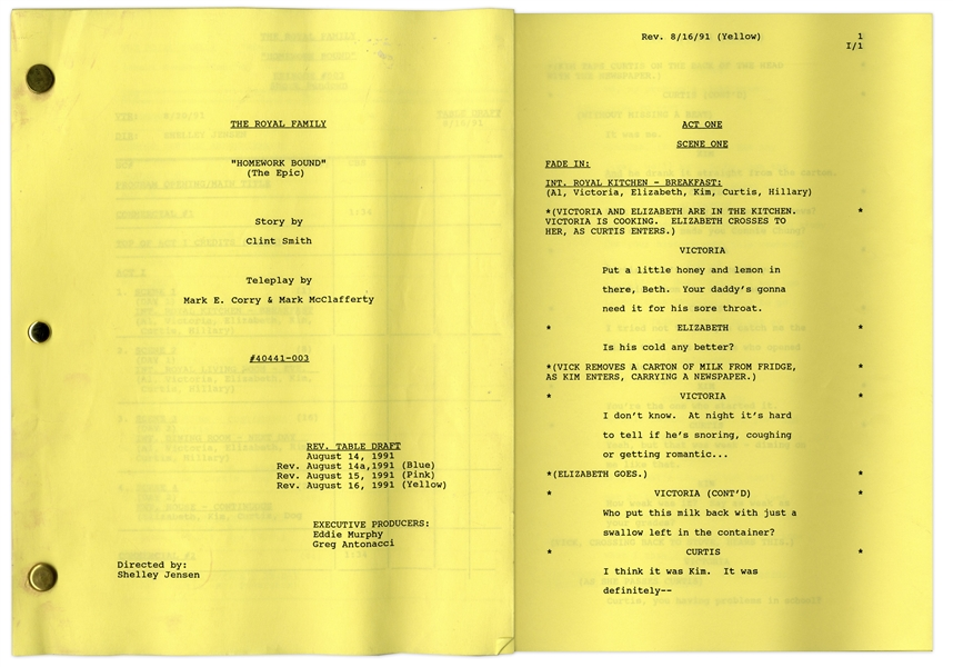 ''The Royal Family'' Episode 2 Revised Table Draft Script Owned by Redd Foxx -- Dated Weeks Before Foxx's Death -- 48 Pages -- Very Good Condition -- From Redd Foxx Estate