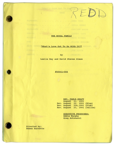 ''The Royal Family'' Episode 6 Revised Table Draft Script Owned & Annotated by Redd Foxx of ''Sanford & Son'' -- 46 Pages -- Very Good Condition -- From Redd Foxx Estate