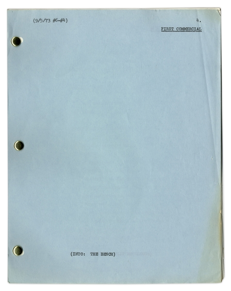 Script for Untitled 1973 Sketch Show Owned by Redd Foxx -- Features Segment Starring Joan Rivers -- Dated 5 September 1973 -- 20 Pages -- Very Good Condition -- From Redd Foxx Estate