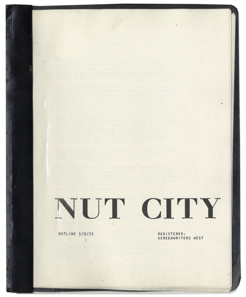 Script Proposal Titled ''Nut City'' From 1972 Owned by Redd Foxx -- ''Fast Moving Comedy'' to Also Star Sammy Davis, Jr. -- 13 Pages -- Very Good Condition -- From Redd Foxx Estate
