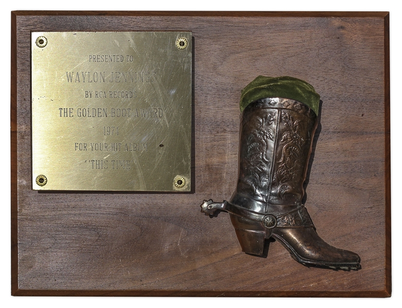 Waylon Jennings Golden Boot Award -- Given for Jennings' 1974 Album ''This Time''