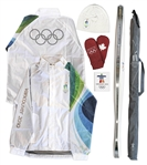 Olympic Torch Used in 2010 Vancouver Winter Games -- With Official 3 Piece Outfit