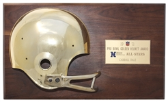 Green Bay Packers Carroll Dales Golden Helmet Award From 1971 NFC-AFC Pro Bowl