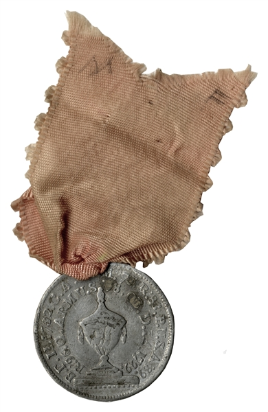 1799 George Washington Funeral Medal -- Worn During Washington's Funeral Procession
