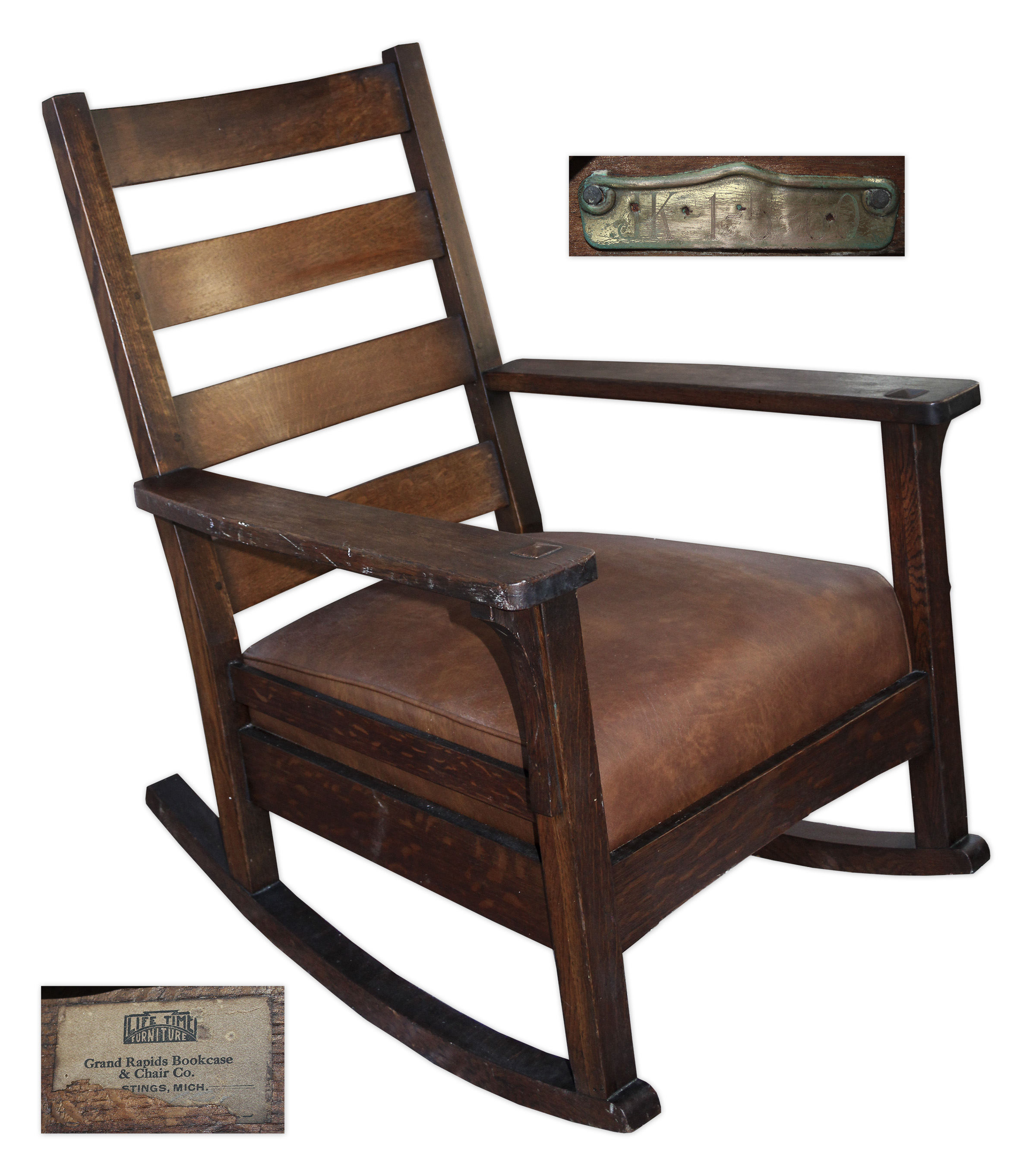 White House Rocking Chair Used By President John F. Kennedy    With White  House ...