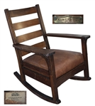 White House Rocking Chair Used by President John F. Kennedy -- With White House Inventory Plate JK-1-5-60