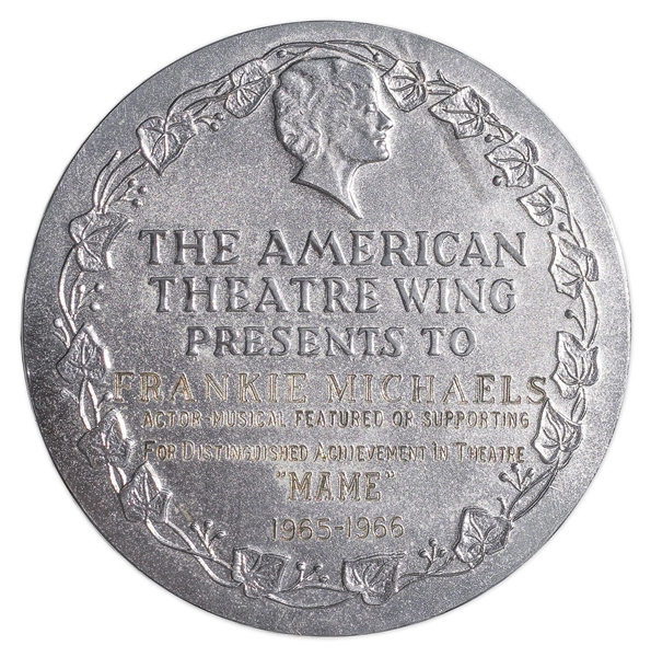 Tony Award Presented to Frankie Michaels in ''Mame'' -- Youngest Recipient Ever to Win the Tony, Won at Age 10