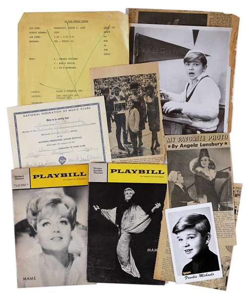 Memorabilia Owned by Frankie Michaels -- Youngest Tony Award Winner Ever at Age 10 for Role in ''Mame''