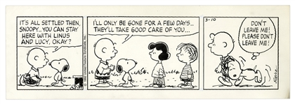 Charles Schulz Hand-Drawn Peanuts Strip From 1992 -- Charlie Brown & Snoopys Bond Is Adorably Featured in This Strip
