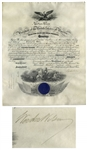 Woodrow Wilson 1914 Naval Commission Signed as President