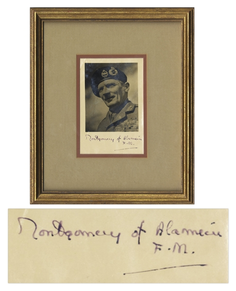 Field Marshal Bernard Montgomery Signed Photo