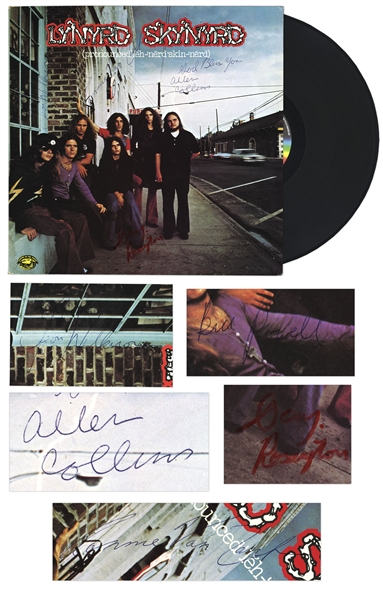 Lynyrd Skynyrd's Debut Album, Signed by Five Original Band Members, Including Lead Singer Ronnie Van Zant -- With COA From Roger Epperson