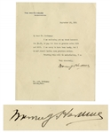 Warren G. Harding 1921 Letter Signed as President on White House Stationery -- Regarding Dues Owed by Harding of Less Than $5.00 -- Dramatic Reminder of the Growth of the Modern Presidency