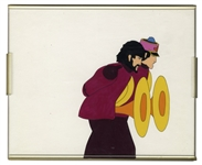The Beatles Yellow Submarine Hand Painted Movie Cel Featuring George Harrison -- From the Sam Simon Estate