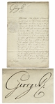 King George III Royal Warrant Signed From 1795 During the French Revolution -- Regarding a Prisoner in France & Protecting the Property of Englishmen Living in France During the Revolution