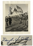 WWII General Douglas MacArthur Signed Press Photo From 1958 -- Photo Was Printed in New York Herald Tribune