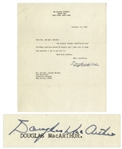 WWII General Douglas MacArthur Typed Letter Signed From 1964 -- Written 2 Months Before His Death