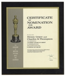 1965 Academy Award Nomination Presented to Henry Grace & Charles S. Thompson for A Patch of Blue