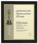 1966 Academy Award Nomination Presented to Henry Grace & Hugh Hunt for Mister Buddwing