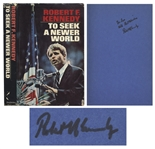 Robert F. Kennedy Signed Copy of His 1967 Book, To Seek A Newer World