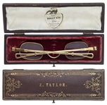 Zachary Taylor Owned Eyeglasses & Case -- The General President Who Is Among the Rarest, Having Only Served 16 Months
