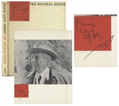Frank Lloyd Wright Signed First Edition of The Natural House